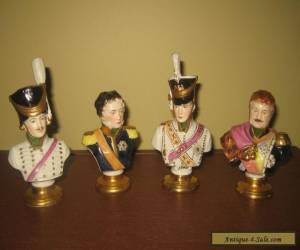 4 Rudolf Kammer busts of Napoleon Marshals, Dresden , Germany for Sale