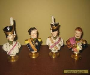4 Rudolf Kammer busts of Napoleon Marshals, Dresden , Germany for Sale
