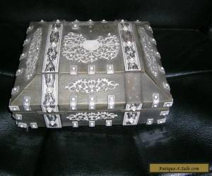 VINTAGE COLLECTABLE  BONE AND WOODEN  BOX for Sale