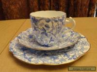 Antique Wileman & Co. Old Bramble Chintz Pattern Trio #49676 (Pre Shelley)