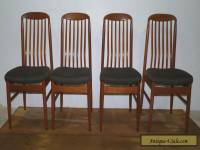 Set of Four Vintage Teak Danish Modern Benny Linden Dining Side Chairs