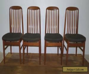 Set of Four Vintage Teak Danish Modern Benny Linden Dining Side Chairs for Sale