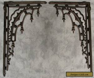 2 ARCHITECTURAL GOTHIC RENAISSANCE Cast Iron SHELF BRACKETS WALL CORNER BRACKETS for Sale
