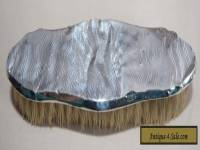 Vintage Ladies Sterling Silver Clothes Brush -Engine Turned- BROADWAY & CO 1931