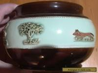 Horse and Hounds embossed Tobacco Jar