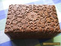 wooden box hand carved in india see details