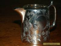 ANTIQUE STERLING SILVER CREAM JUG