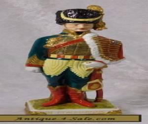 VTG SCHEIBE-ALSBACH PORCELAIN NAPOLEONIC WAR SOLDIER OFFICER FIGURINE for Sale