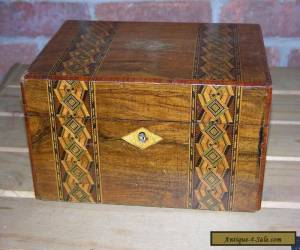 19th Century Sewing Box. Beautiful Detail for Sale