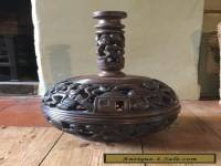 Vintage Wooden Hand Carved African Lamp Stand