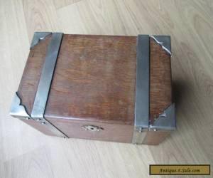 Arts and crafts Victorian Oak Casket for Sale