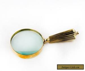 high quality vintage art solid brass antique hand lens magnifying glass MG 03 for Sale