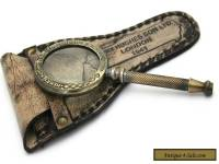 kelvin & hughes london antique brass vintage hand lens magnifying glass MG 09