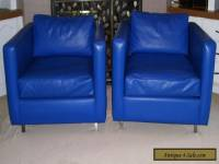 VINTAGE MID CENTURY MODERN CHROME CLUB LOUNGE CHAIRS- PAIR