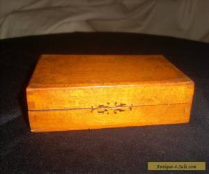 Small Rectangular Antique Wooden Box. for Sale