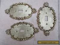 Set of 3 Antique Style Brass Mounts or Wall Plaques