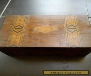 VICTORIAN TUNBRIDGE STYLE BOX   for Sale