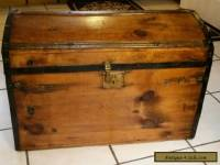 1800's Antique  Civil War Stagecoach Steamer Trunk Chest