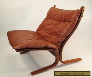 Westnofa mid century '60s leather lounge chair Norway Danish Modern  for Sale