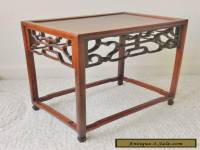 Antique Chinese Rosewood Carved Display Stand Table Wood