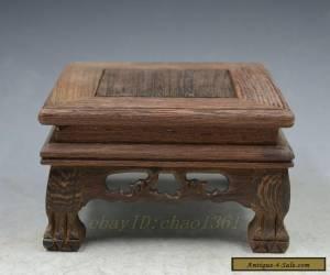 GOOD Rosewood stand display pedestal wood/vase figure statute pot base for Sale