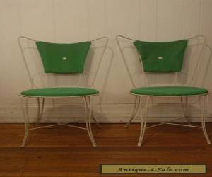 2 VINTAGE 1960S PATIO WIRE CHAIR SET UMANOFF MID CENTURY MODERN for Sale