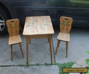 VINTAGE CHILDREN'S  Mid Century TABLE AND CHAIRS for Sale