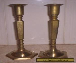 Pair of  Brass Candlesticks for Sale
