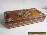 Vintage Ukrainian Carved Wooden Box