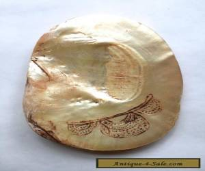 Old Aboriginal Engraved Pearl Shell - Kimberley's W/A 1970's for Sale