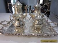 SILVER COFFEE & TEA SET, SHERIDAN, 5 PIECES BEAUTIFUL