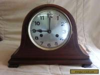 antique, art deco, napolean hat style mantle clock.