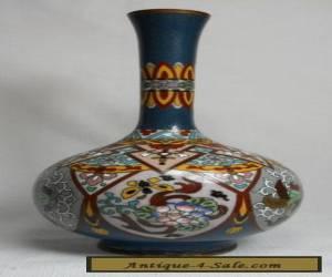 Spectacular Vintage Japanese MEIJI Cloisonne Vase with Birds and Flowers for Sale