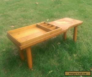 1956 Vintage Antique Stickley Cobbler's Bench Coffee Table Mid Century for Sale