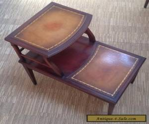 Vintage Imperial Mahogany Leather Top Side End Table for Sale