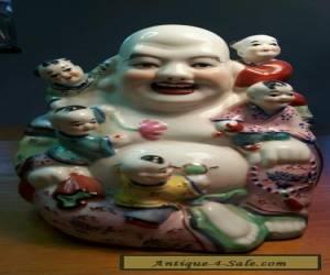 VINTAGE PORCELAIN BUDDHA WITH CHILDREN for Sale