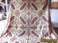 Antique Cashmere Block Printed Paisley Shawl French c1830-1850~Women's Clothing