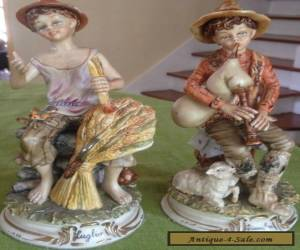 STUNNING LOVELY PAIR OF MARKED GERMAN POTSHAPPEL PORCELAIN FIGURINES for Sale