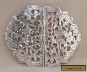 Antique Sterling Silver Pierced Nurses Belt Buckle - Reynolds & Westwood 1909 for Sale