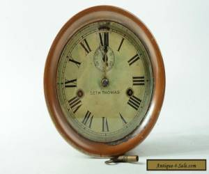 Vintage Seth Thomas 6 Inch Brass Ship's Clock. Original Condition W/ Key. WORKS! for Sale