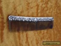 Victorian Silver Mounted Tortoise Shell Comb