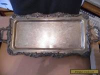 Large Antique Silverplate Serving Tray