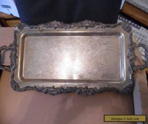 Large Antique Silverplate Serving Tray   for Sale