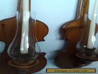 victorian violin candle holders