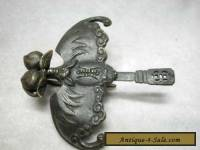 Chinese style brass bat carved lock and key