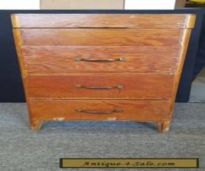 VINTAGE Wood 3 Drawer Sewing Cabinet w/ Hinged Top for Sale