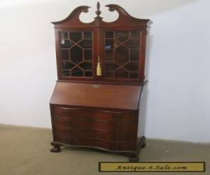 57038 Antique Mahogany secretary desk with Bookcase Top for Sale