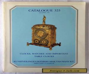 1981 Clock, Watches and ..Table Clocks Sotheby Catalogue 325 with estimates for Sale
