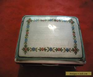 Sterling silver antique Guilloche box with playing cards for Sale