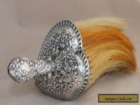 1927 Sterling Silver Repousse Heart Shape Clothes Brush/Vanity Brush